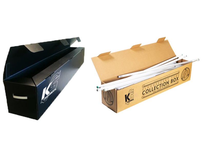fluorescent tube recycling boxes