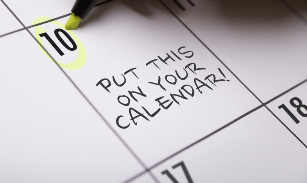 sustainable office clean up - calendar date