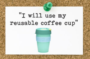 green resolution - coffee cup