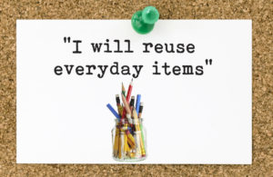 green resolution - reuse everyday items