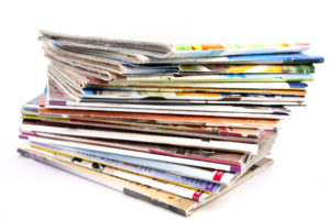 Reduce recyclable waste - magazines
