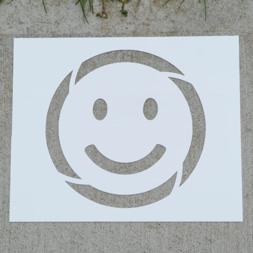 smiley face stencil