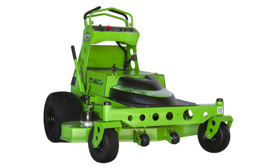 Mean green Stalker photo of mower
