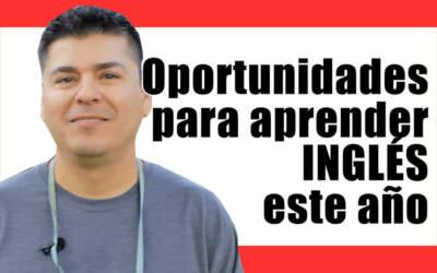 Oportunidades para aprender inglés este año