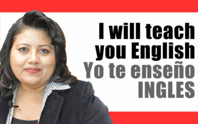 I will teach you English, Yo te enseño inglés