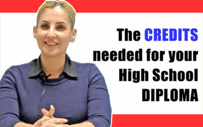 The CREDITS needed for your High School DIPLOMA