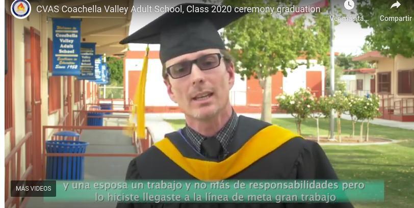 Class 2020 Graduation Coachella Valley Adult School