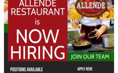 Allende Restaurante is looking to hire