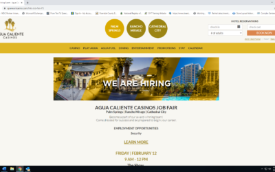 Upcoming Opportunities Events Agua Caliente