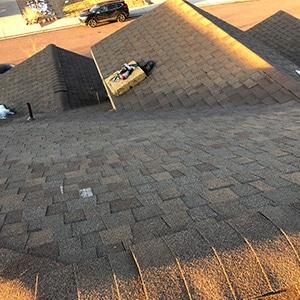 Roof Repair - Castle Rock Ice Damm Mid Repair from roof peak