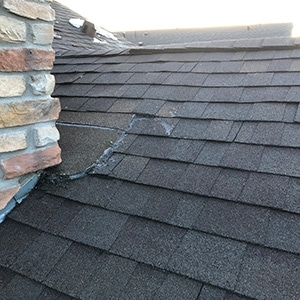 Roof Repair - Castle Rock Ice Damm on Roof