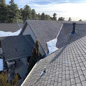 Roof Replacement - Before replacement due to hail damage