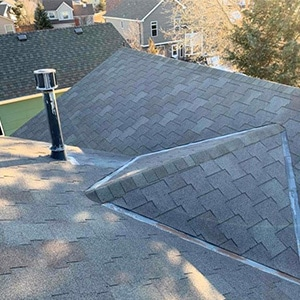 Roof Replacement - T-Lock, Hail damage before - Briargate