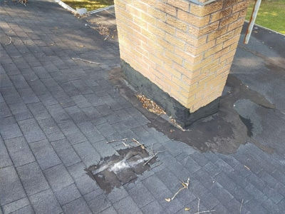 Failed tar roof flashing in colorado springs, co