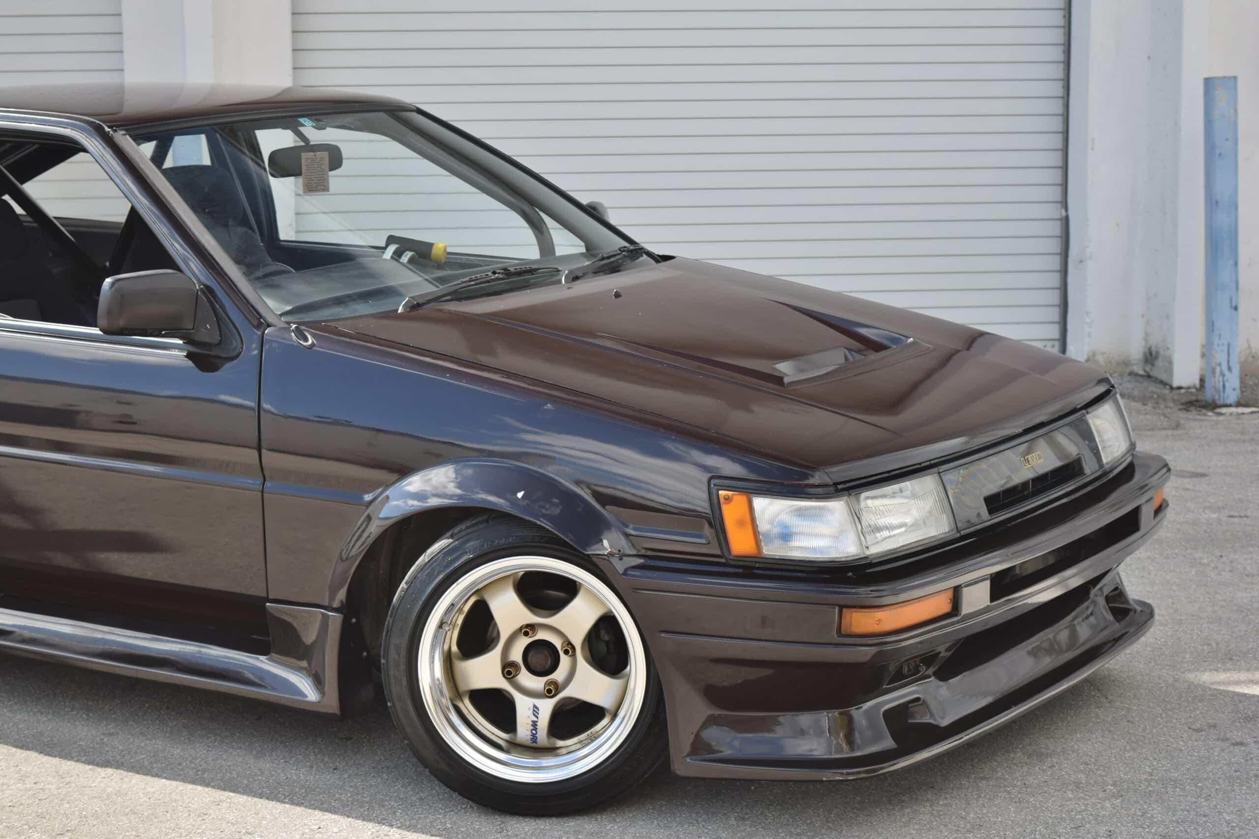 1987 Toyota Corolla AE86 LEVIN Fresh Engine Rebuild – Work Meister Wheels- Recaro Seats -Roll Cage – JDM – LSD