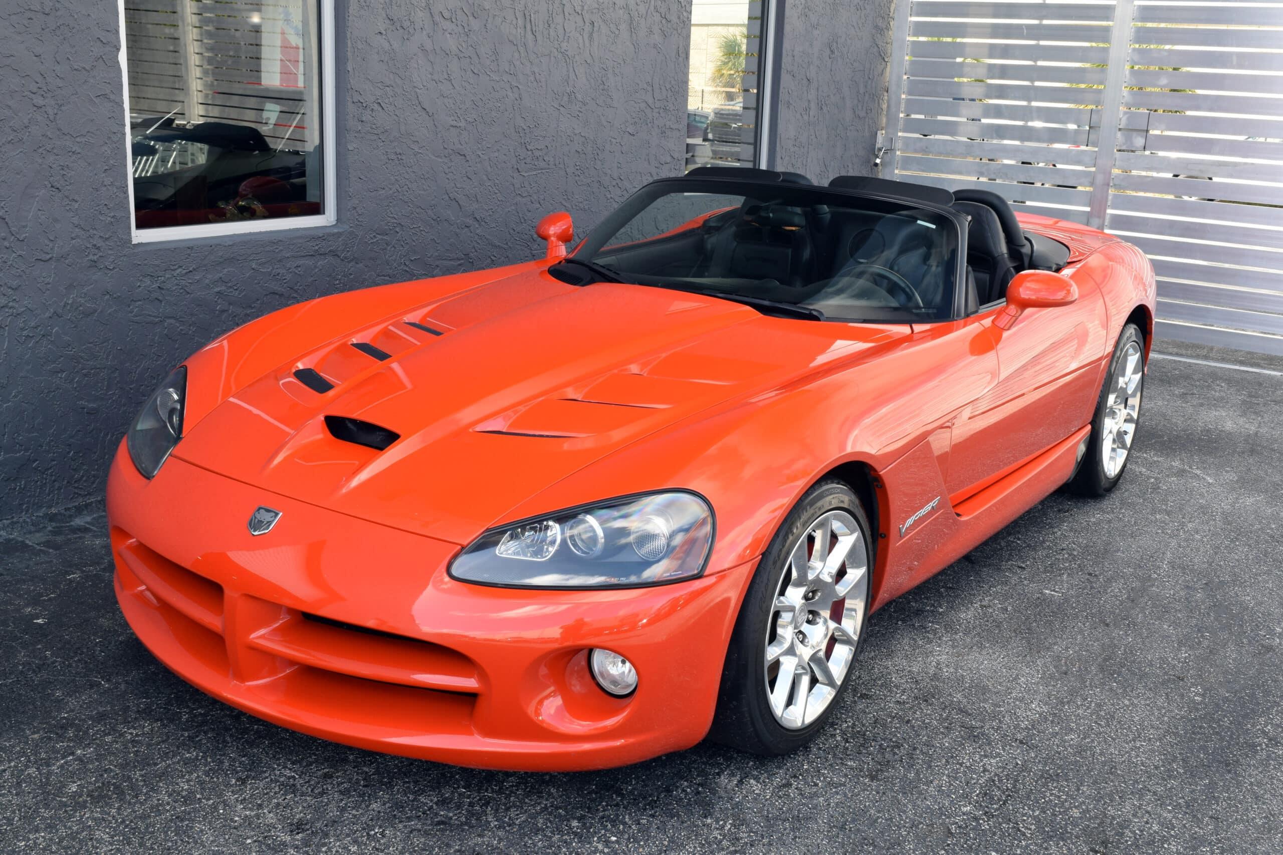 2008 Viper SRT10 Roadster, rare Viper Very Orange Pearl, only 29K miles, amazing original condition.