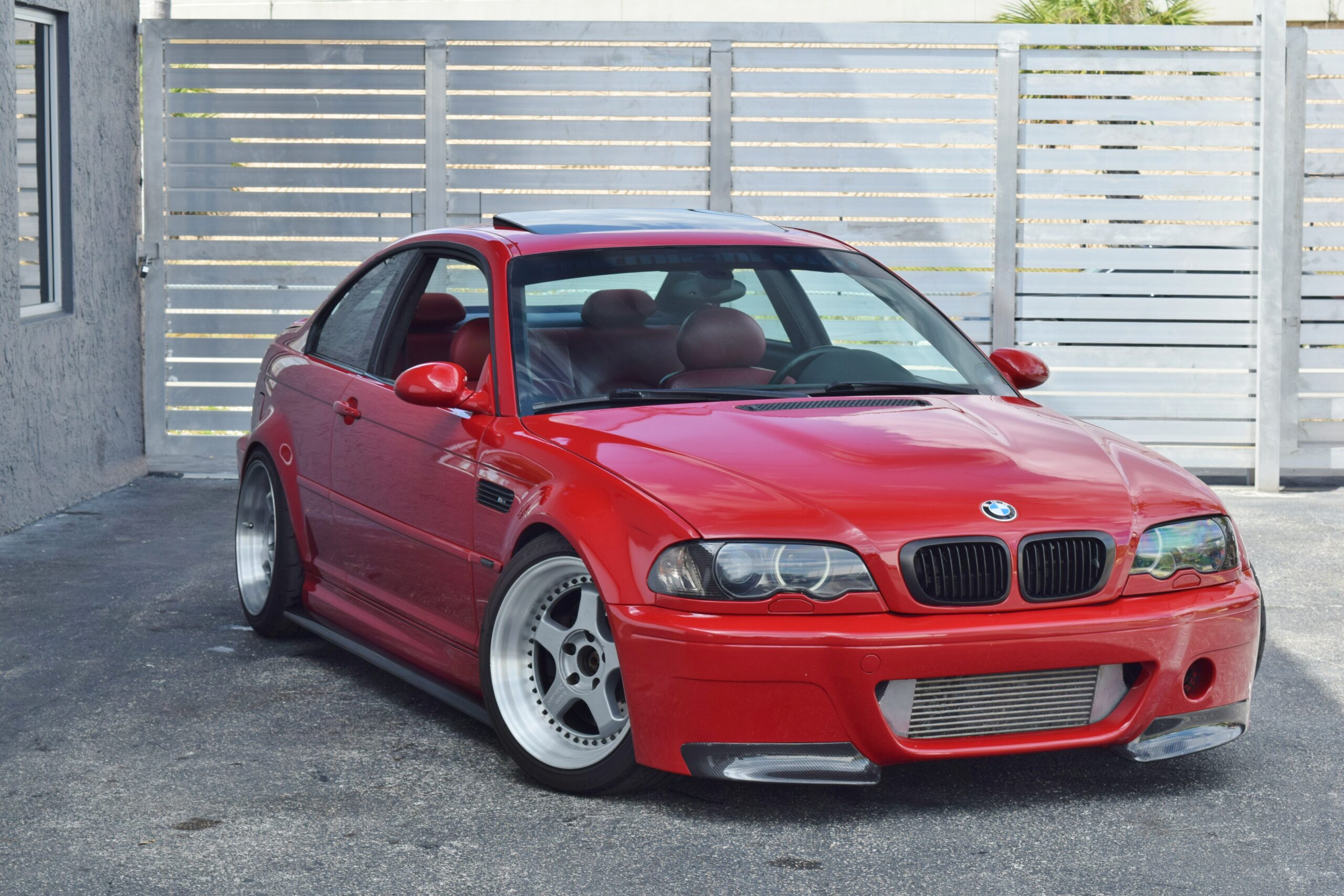 2002 BMW M3 E46 6 Speed Manual Imola Red/Red interior Supercharged-Airlift Suspension-Over $40,000 in Reciepts