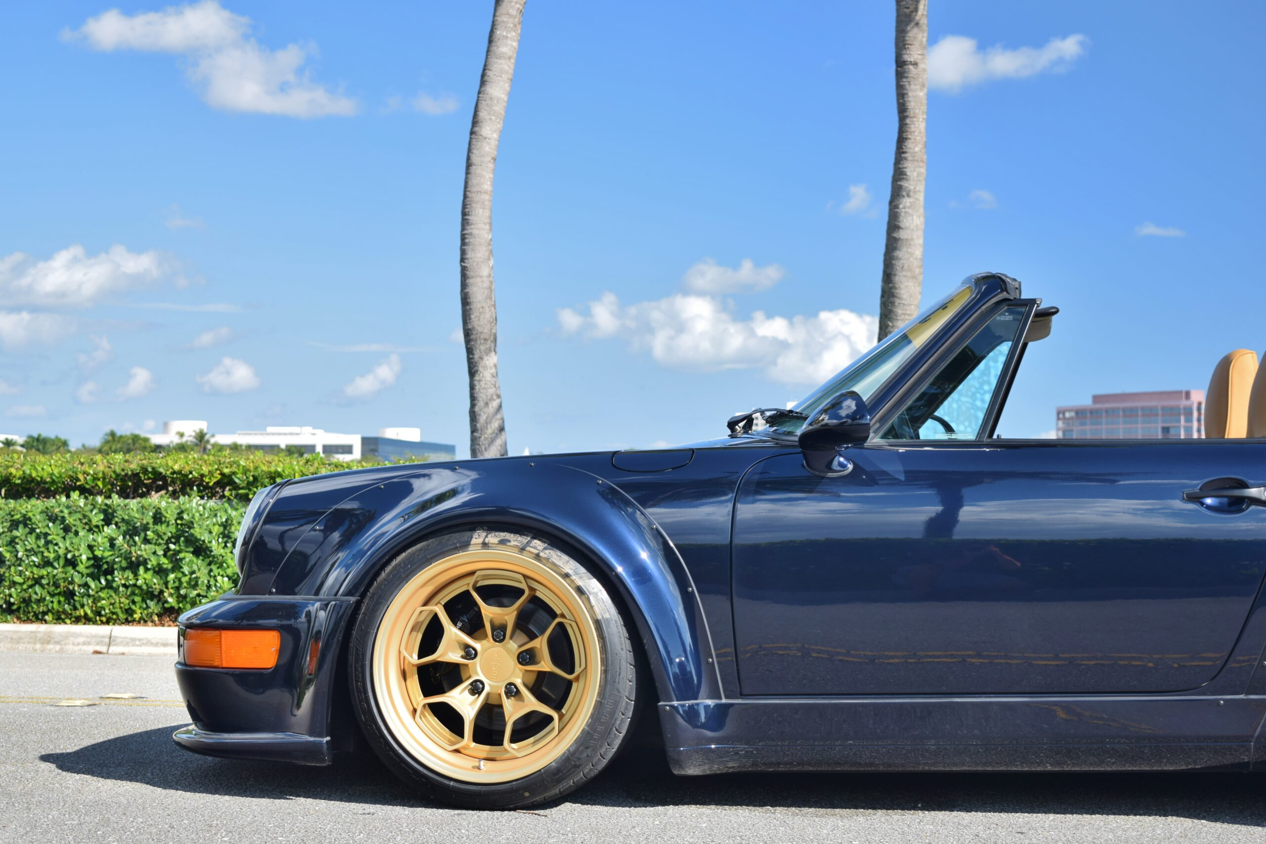 1993 Porsche 911/ RWB Europe 964 C4 Cabriolet Midnight Blue/ Tan 1 Owner Only 48k Miles