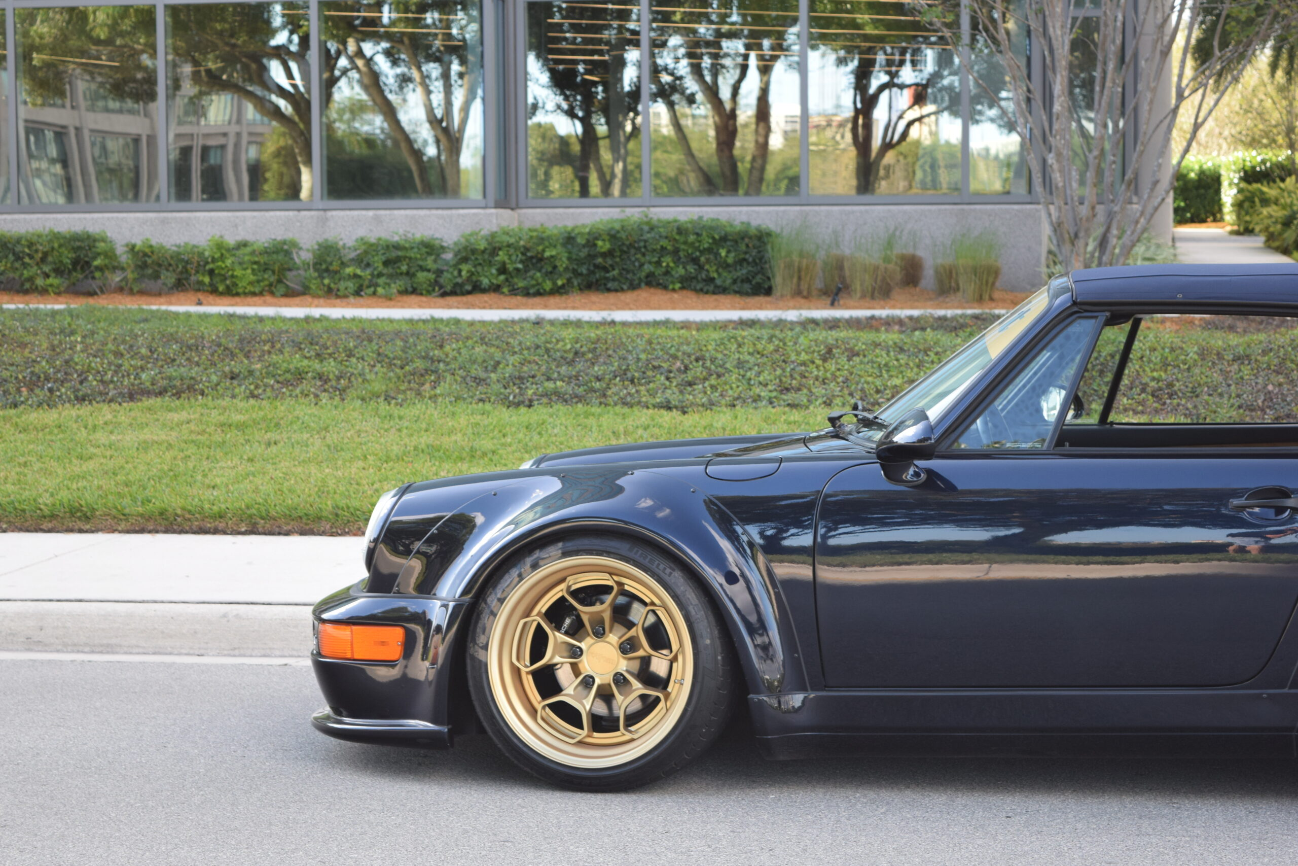 1993 Porsche 911/ RWB Europe 964 C4 Cabriolet Midnight Blue/ Tan 1 Owner Only 48k Miles