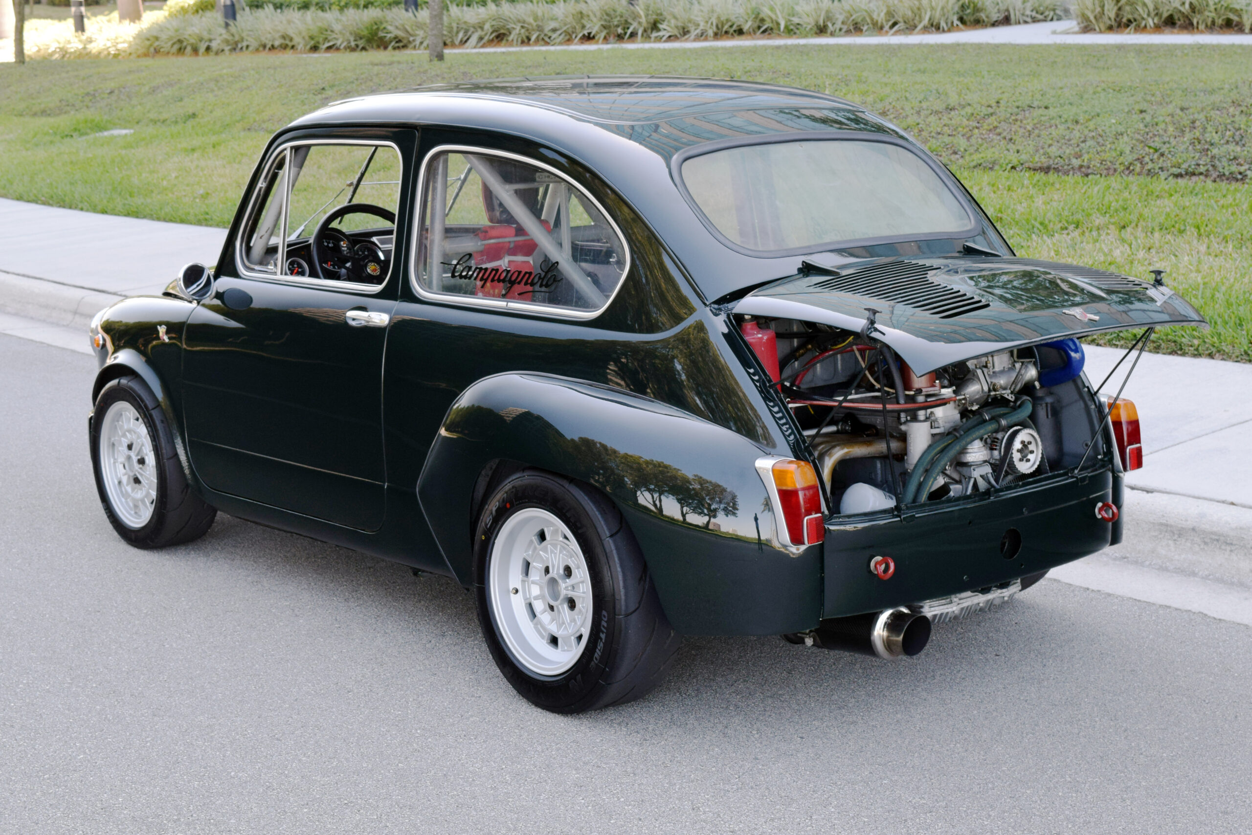 1967 Fiat 600 race car, REAL ABARTH components, 113 HP, street legal, 5-speed