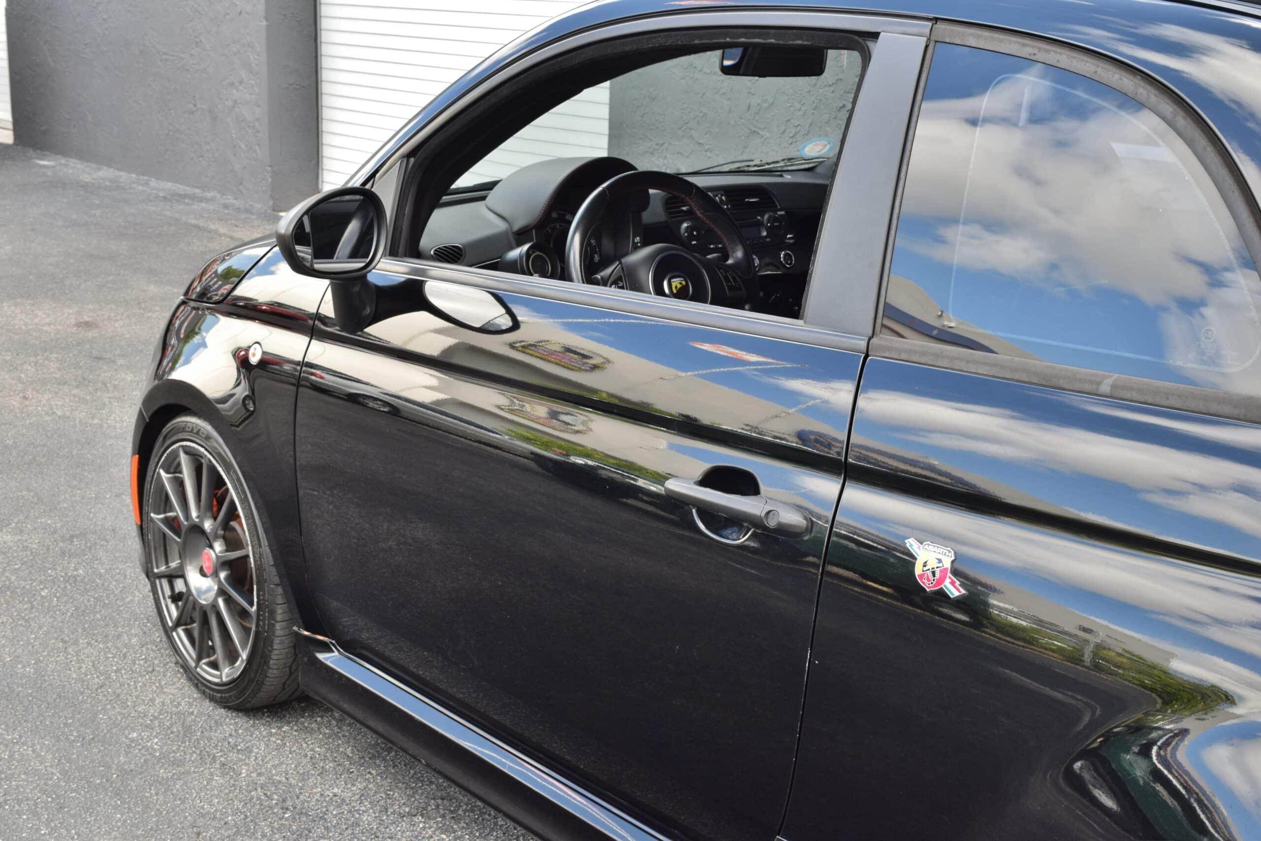 2013 Fiat 500 C Abarth Black on Black – Well Maintained – TURBO – Clean Carfax -Original Window Sticker