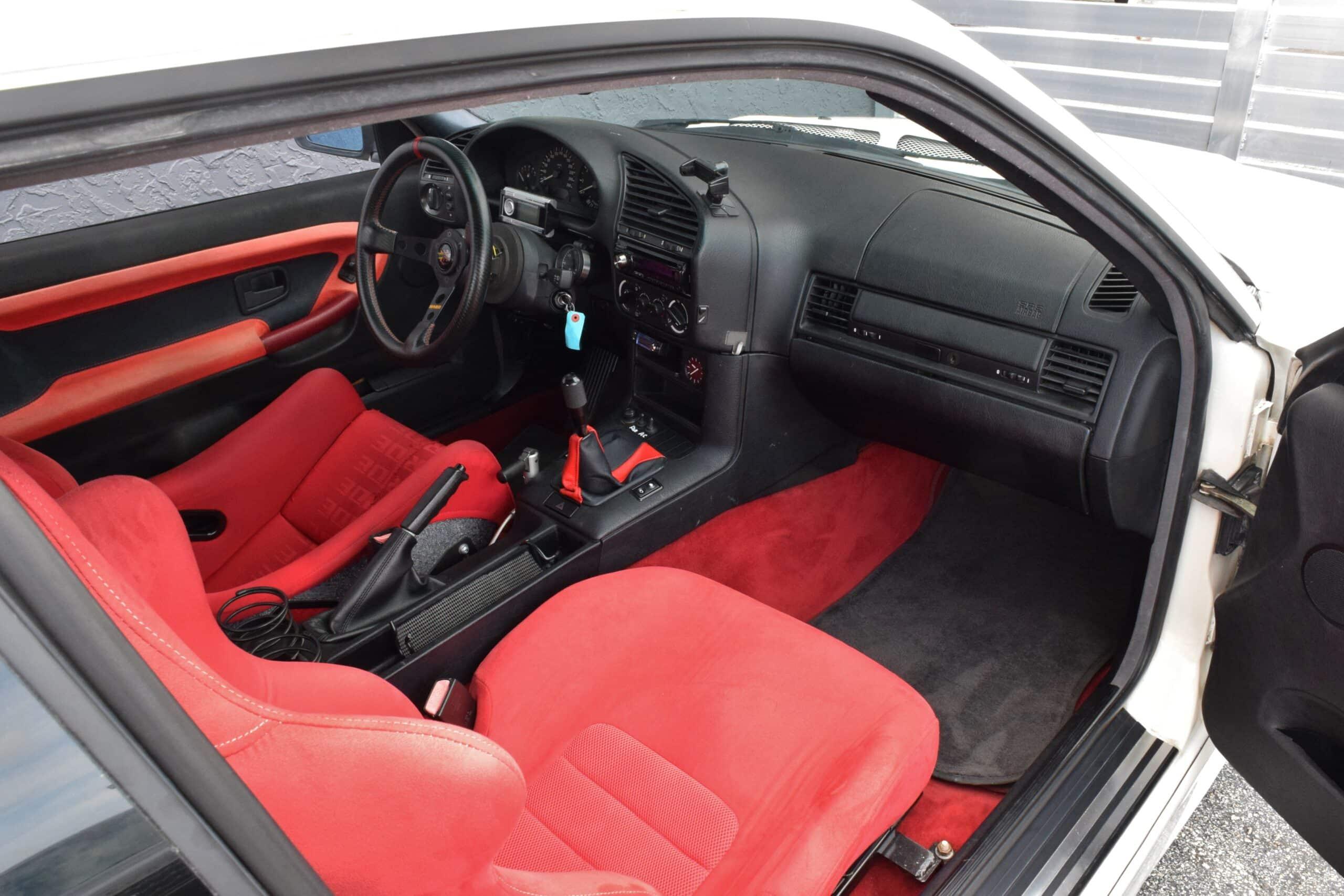1995 BMW 3-Series E36 SR20DET TURBO 2.1L Bore HKS-6 Speed Manual-Big Brake Kit-Weds Sport Wheels-Bride Seats-Cold AC
