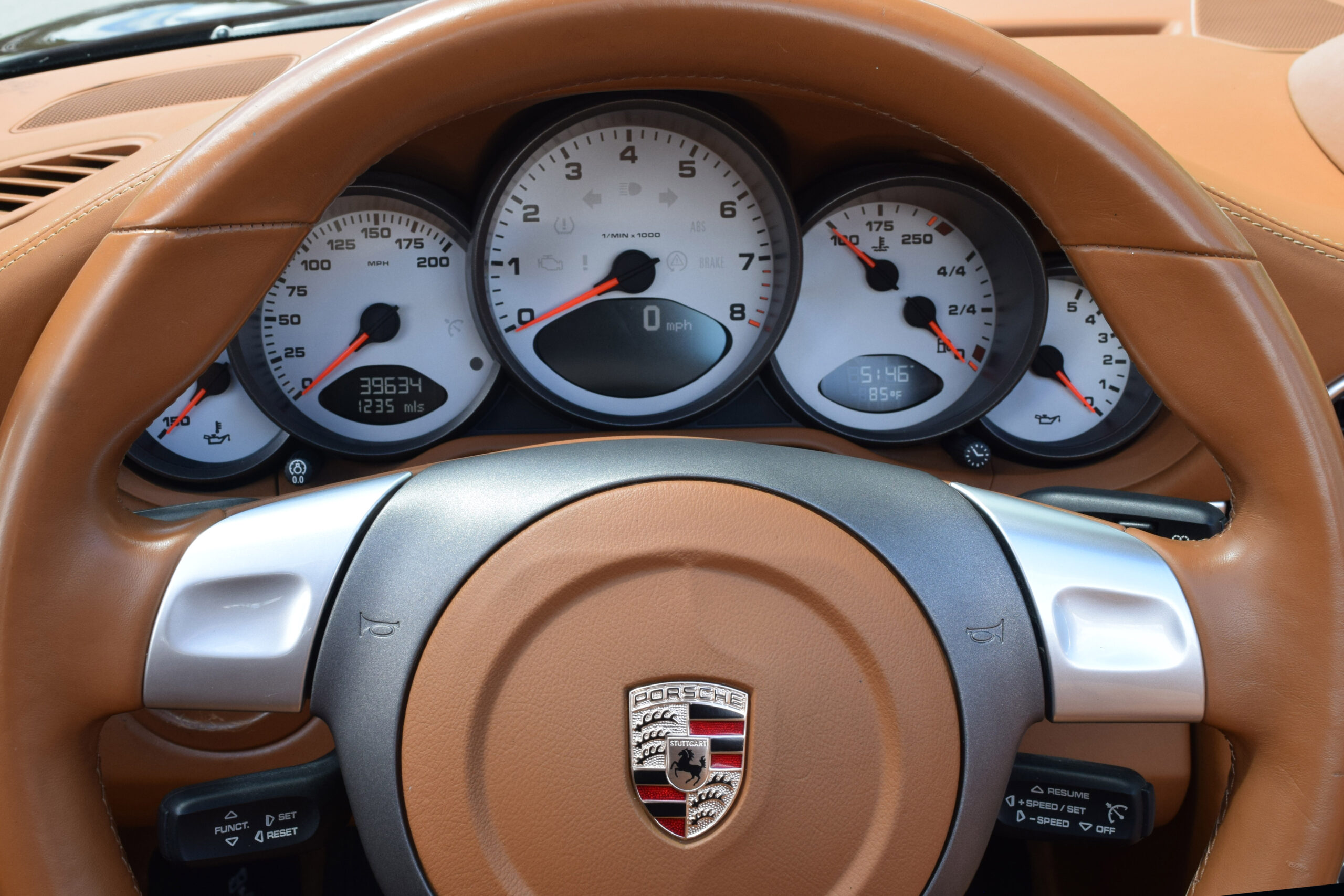 2008 997 Carrera 4S, 6-Speed, Desirable 3.8L engine, Low Miles, Sport Chrono, Brown Natural Full leather
