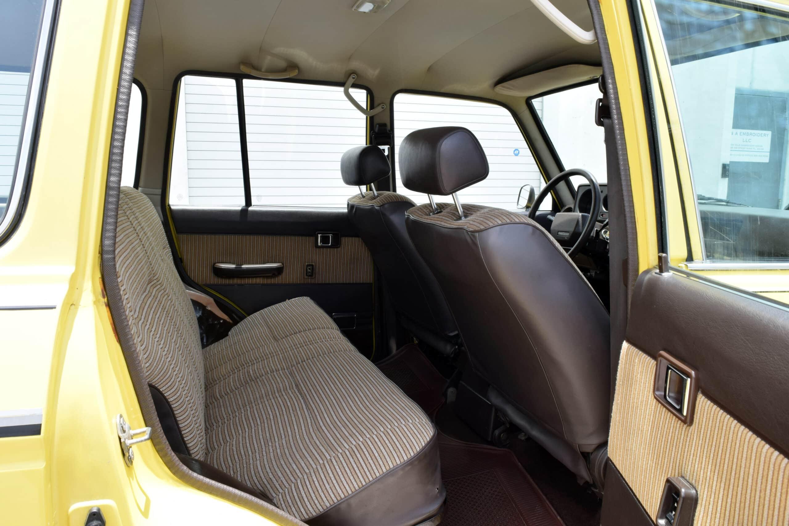 1985 Toyota FJ60, Rare and original Wimbledon Yellow, 3F Gasoline engine with 5 Speed, Original Interior