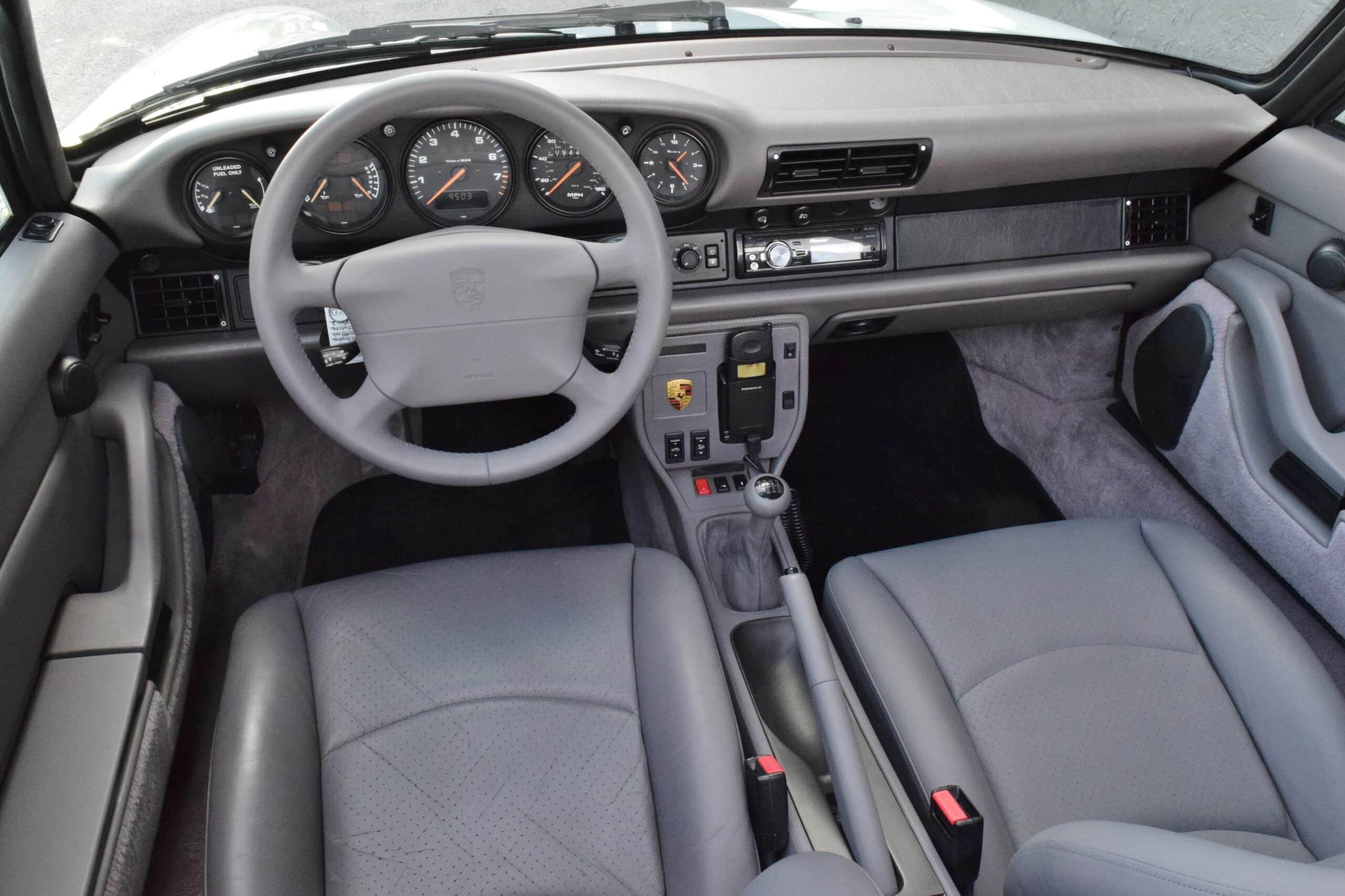 1995 Porsche 911 Carrera 993 Gran Prix White – New Convertible Top – Euro Height – Turbo Twists – Rare Option