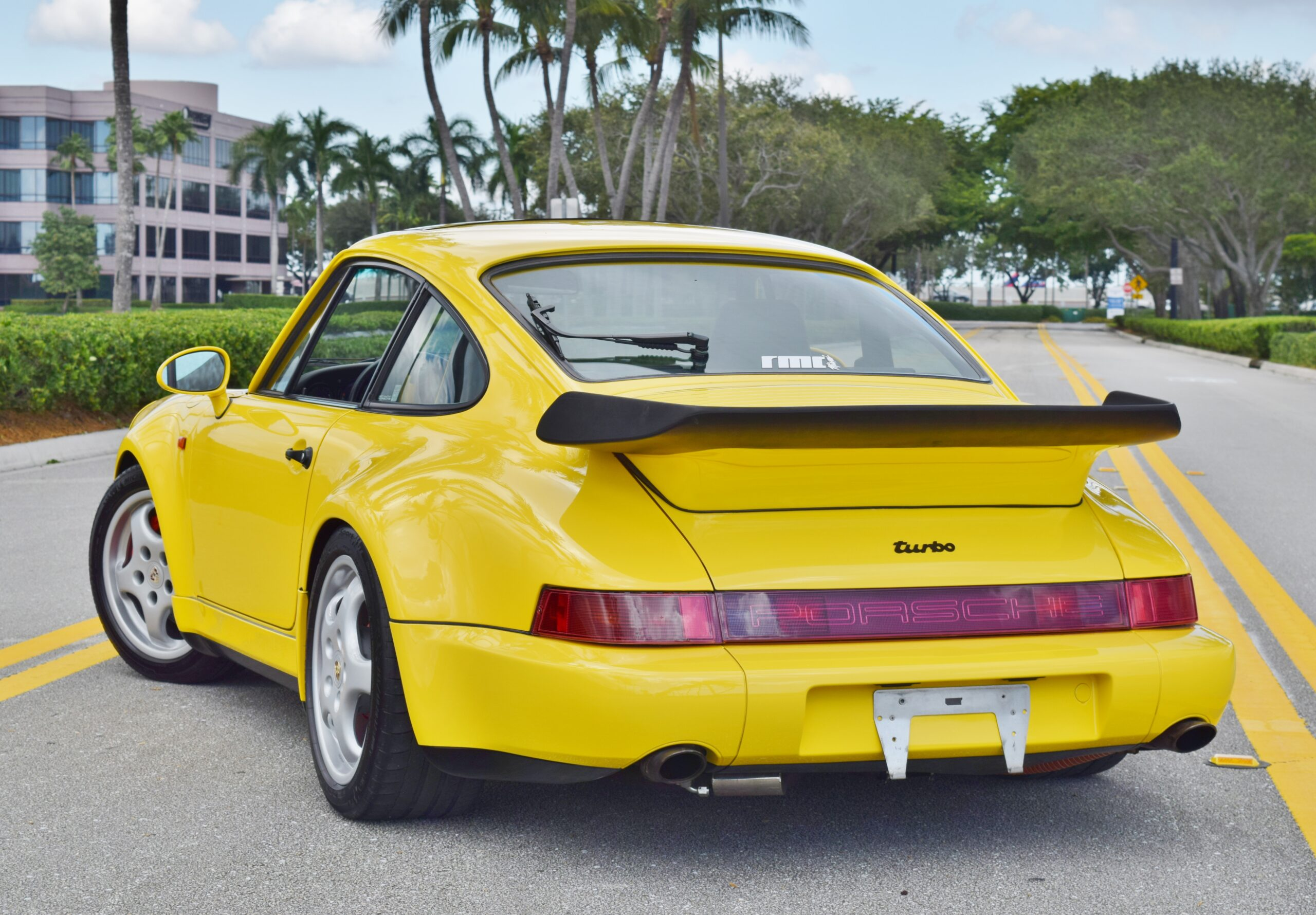 1991 Porsche 911 Turbo 964 Paint to Sample Ferrari Yellow/ Only 61K Miles/ Matching Numbers/ Engine Refresh