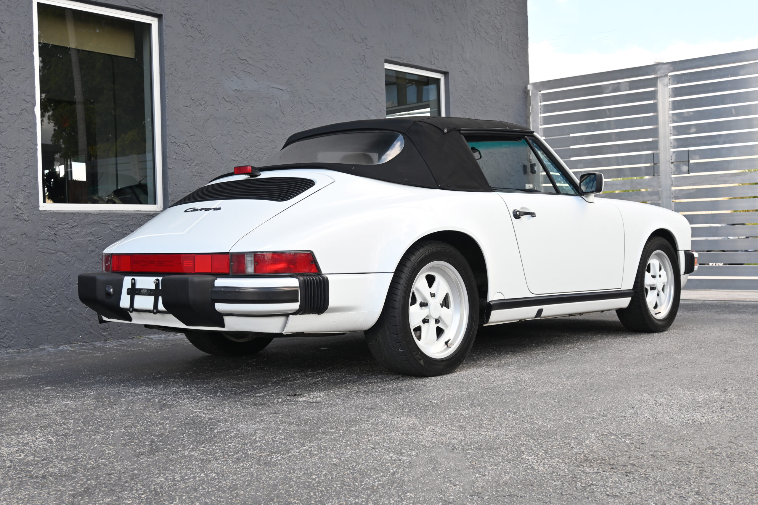 1988 Carrera Cabrio,G50, low miles with recent service at marque specialist, Iconic 1980's color combo, outstanding condition, tools.