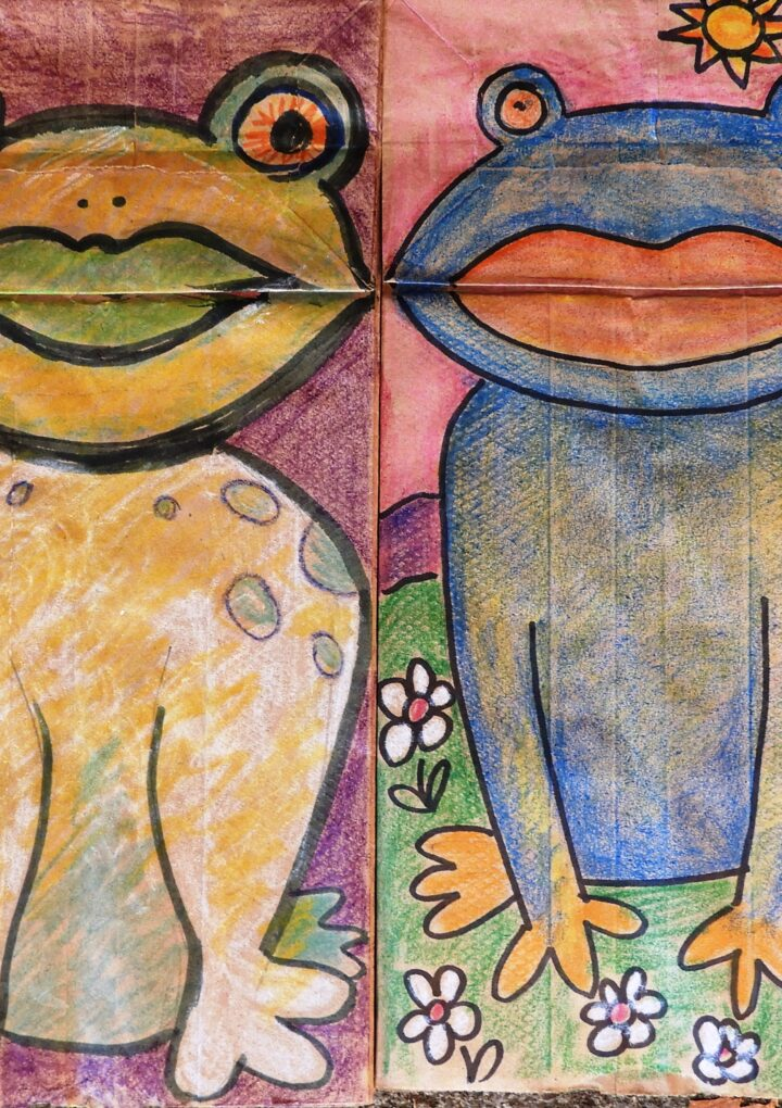 Art For Everyone! – Creating Paper Bag Frog Puppets