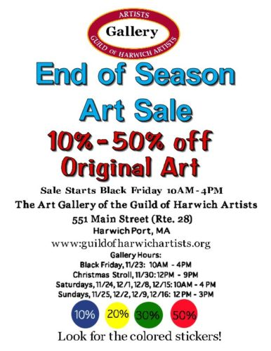 End of Season Art Sale