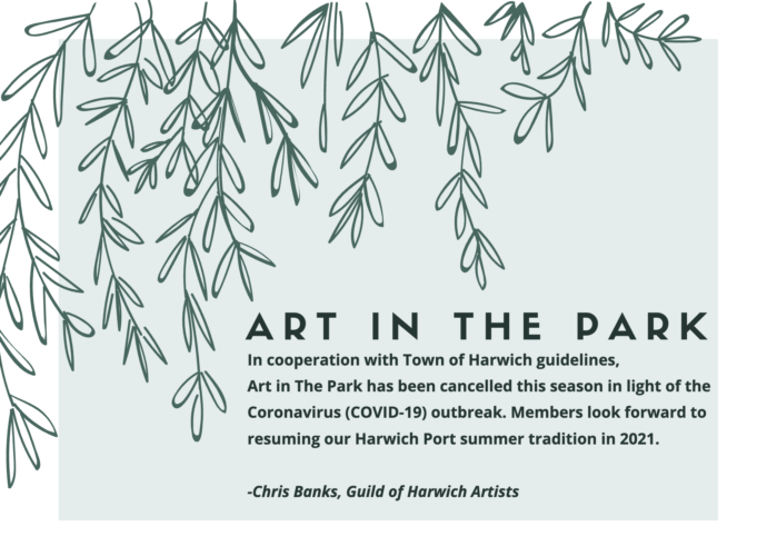 2020 Art in The Park Season Cancelled