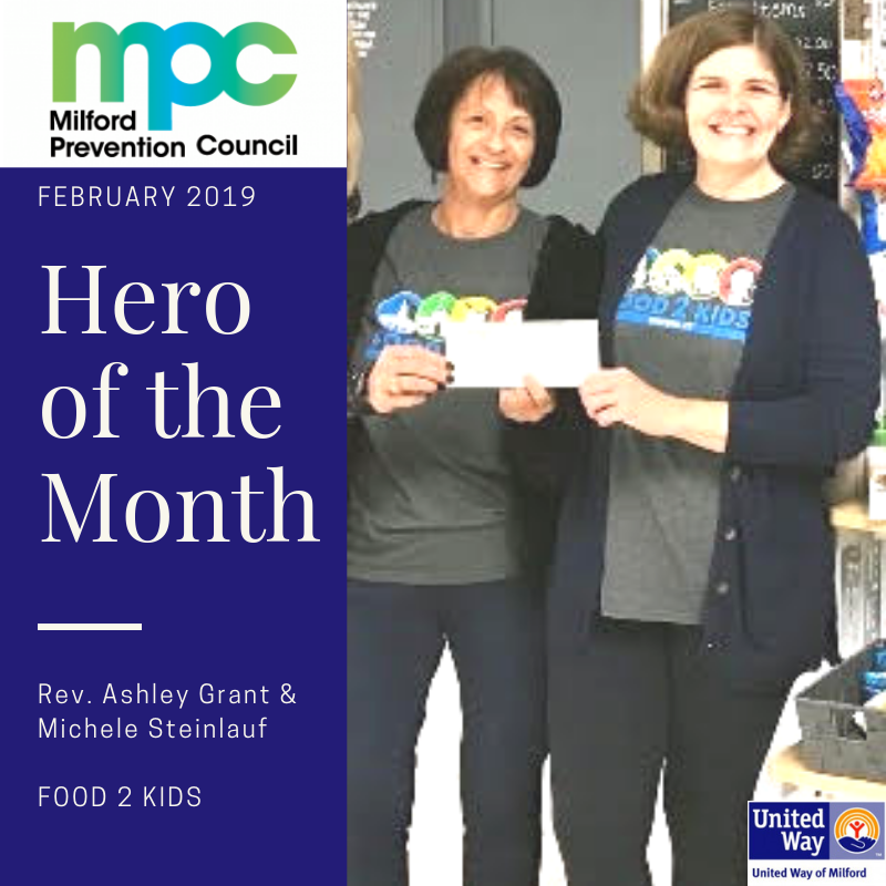 February 2019 Heroes of the Month: Rev. Ashley Grant & Michele Steinlauf