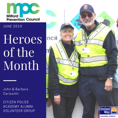 June 2019 Heroes of the Month: John & Barbara Carissimi