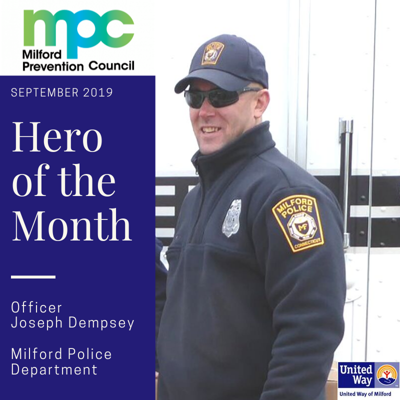September 2019 Hero of the Month: Officer Joe Dempsey