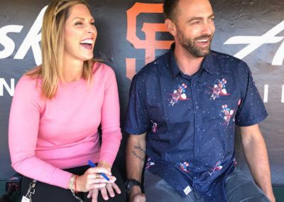 World Series Campion Jeremy Affeldt with Amy G