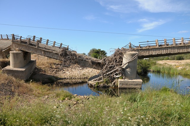 Crumbling bridge
