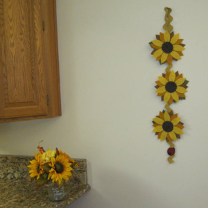 sunflowers wall hanging