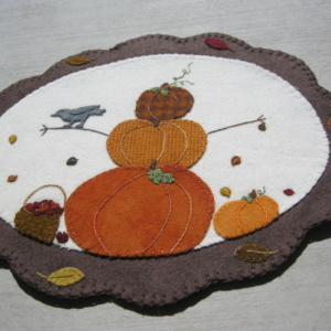 Autumn Pumpkins and Apples Penny Rug