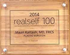 award-2014-RealSelf500-Dr-Maan-Kattash-plastic-surgeon