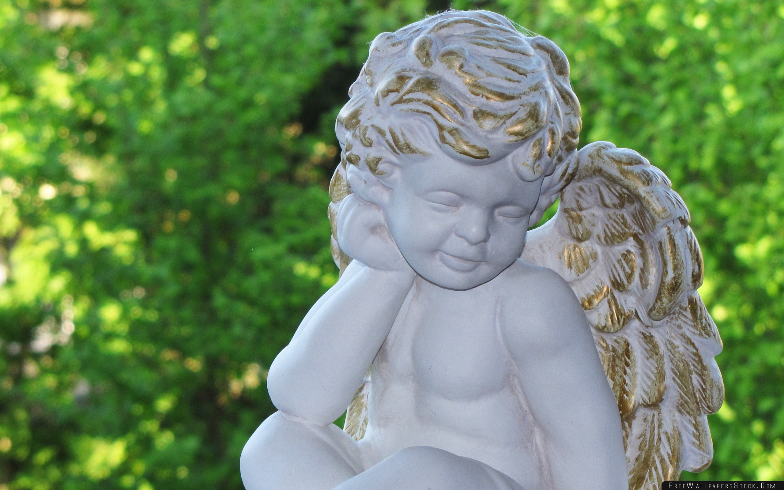 Download Free Wallpaper Angel Figurine Harmony