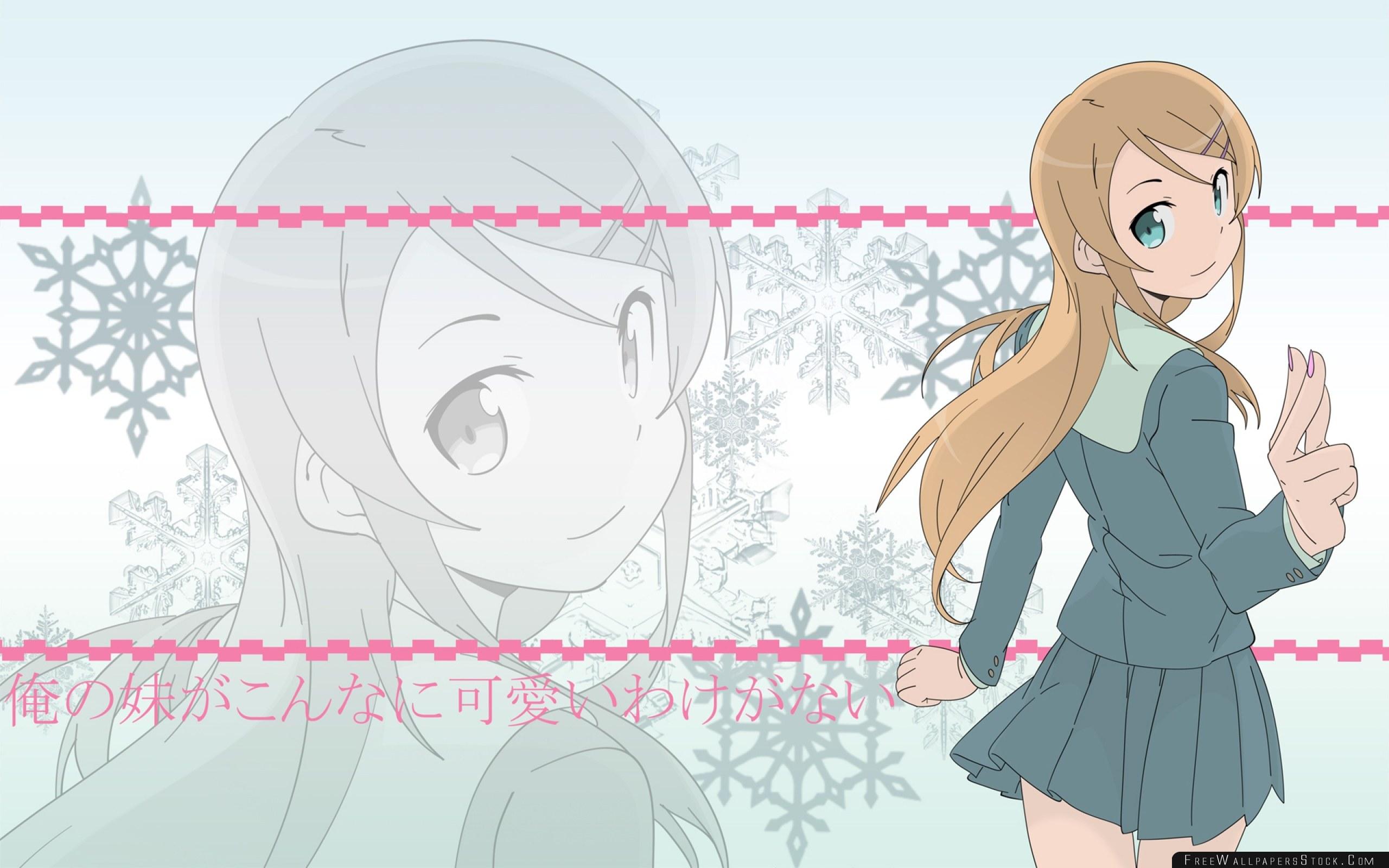 Download Free Wallpaper Anime Girl Brunette Schoolgirl