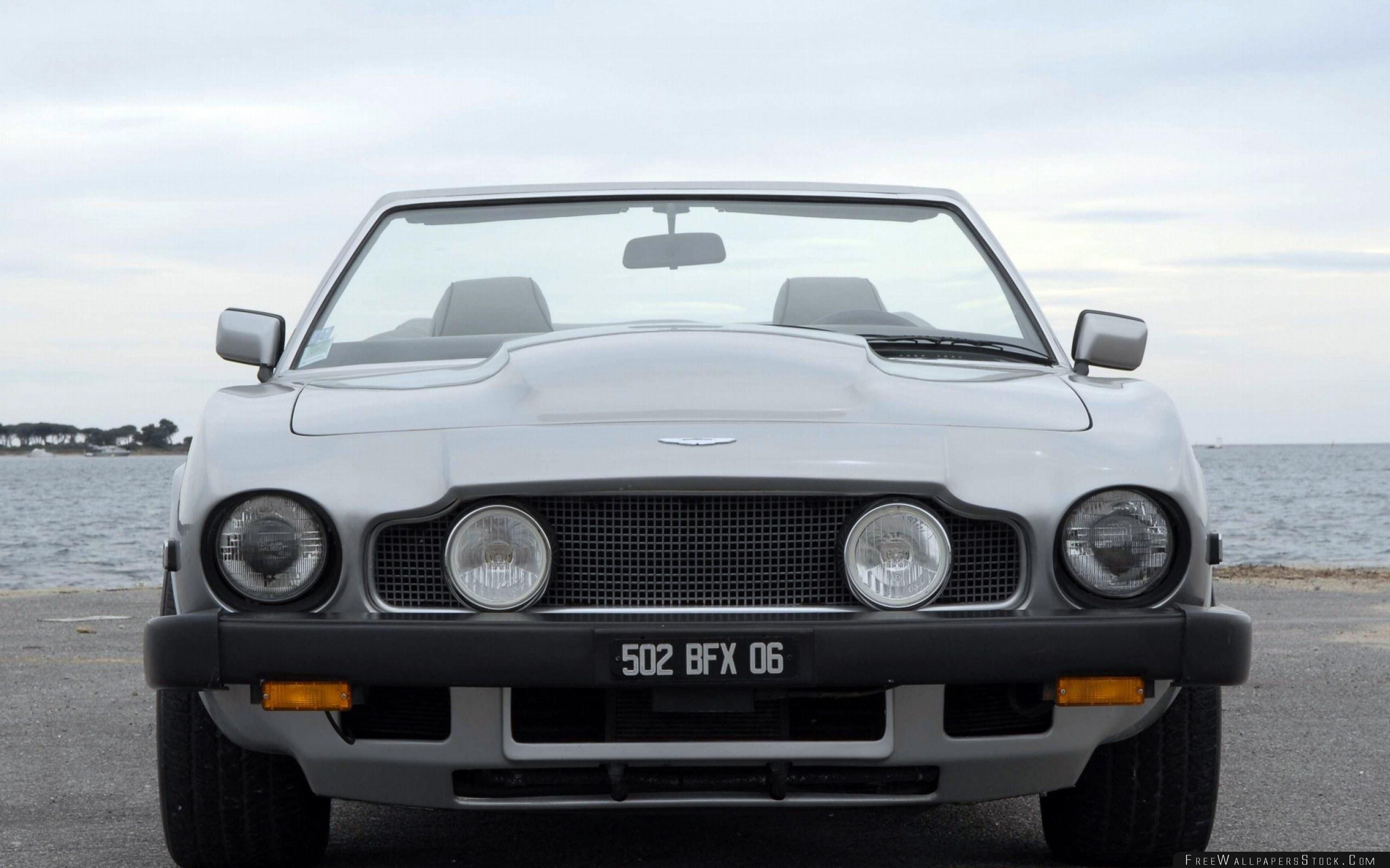 Download Free Wallpaper Aston Martin   Volante Gray Front View Car Sea Cabriolet