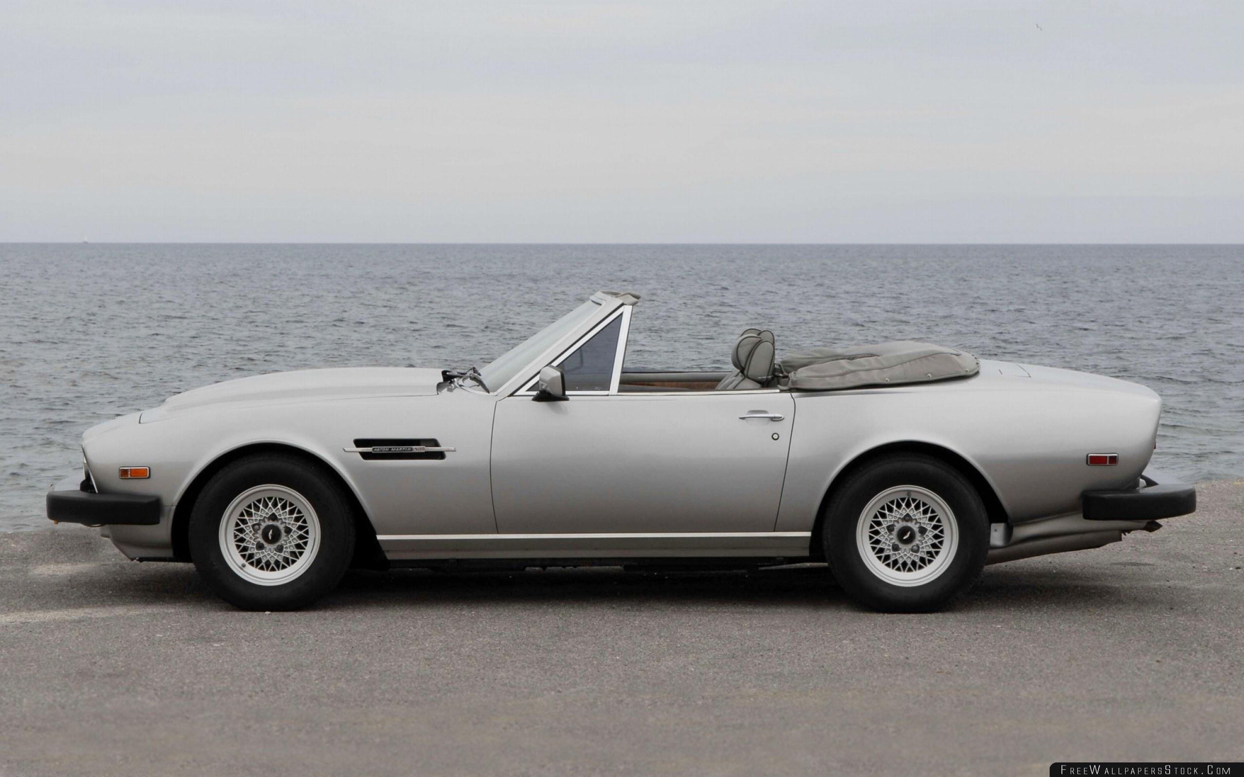 Download Free Wallpaper Aston Martin   Volante Gray Side View Cabriolet Sea