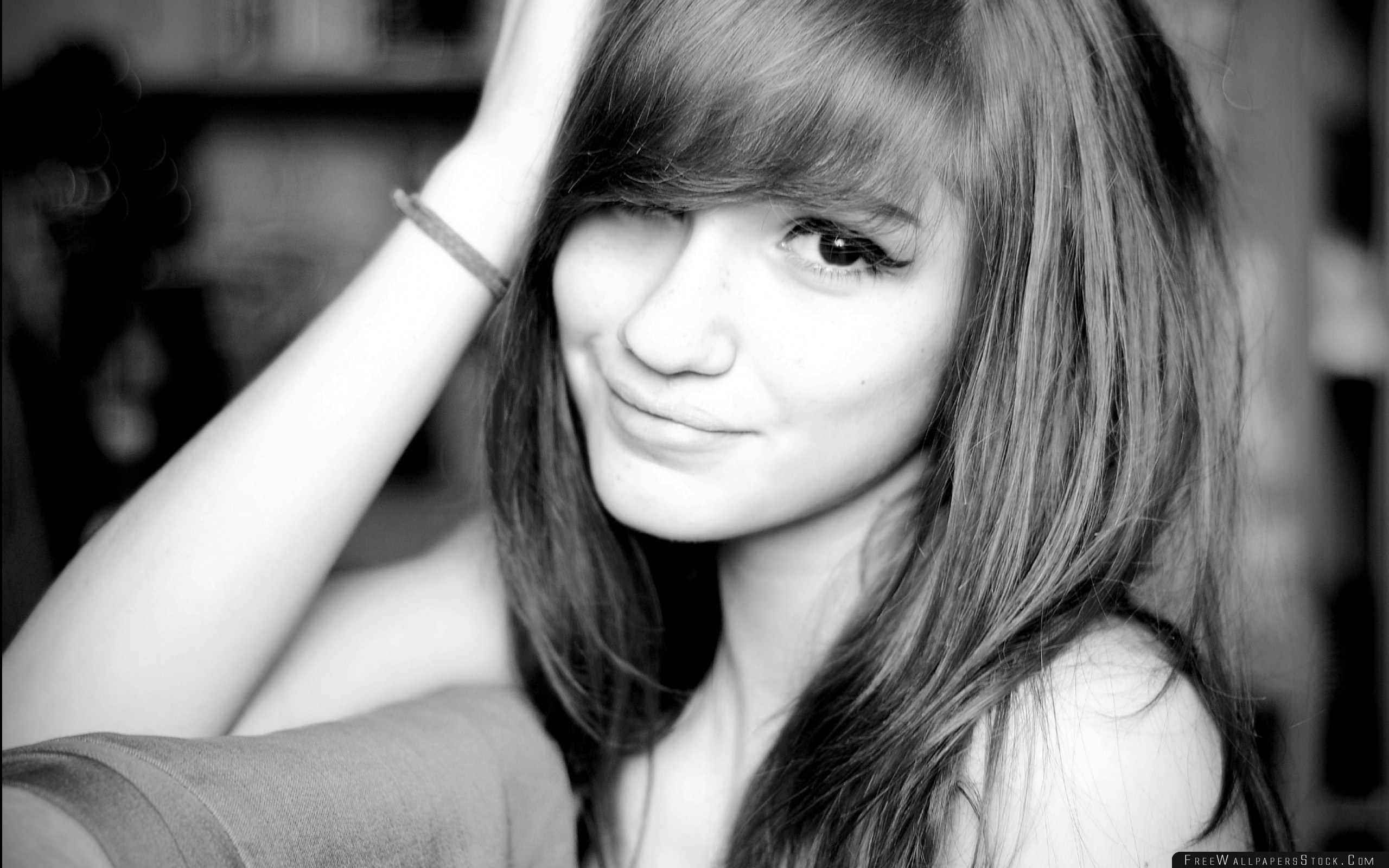 Download Free Wallpaper Brunette Look Smile   Face