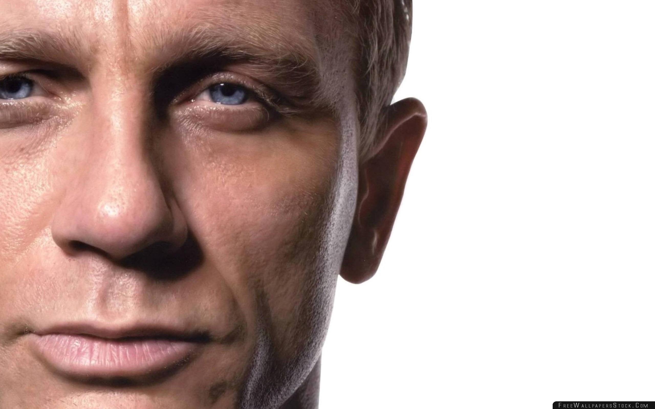 Download Free Wallpaper Daniel Craig Actor Celebrity Face Close   Blue Eyed