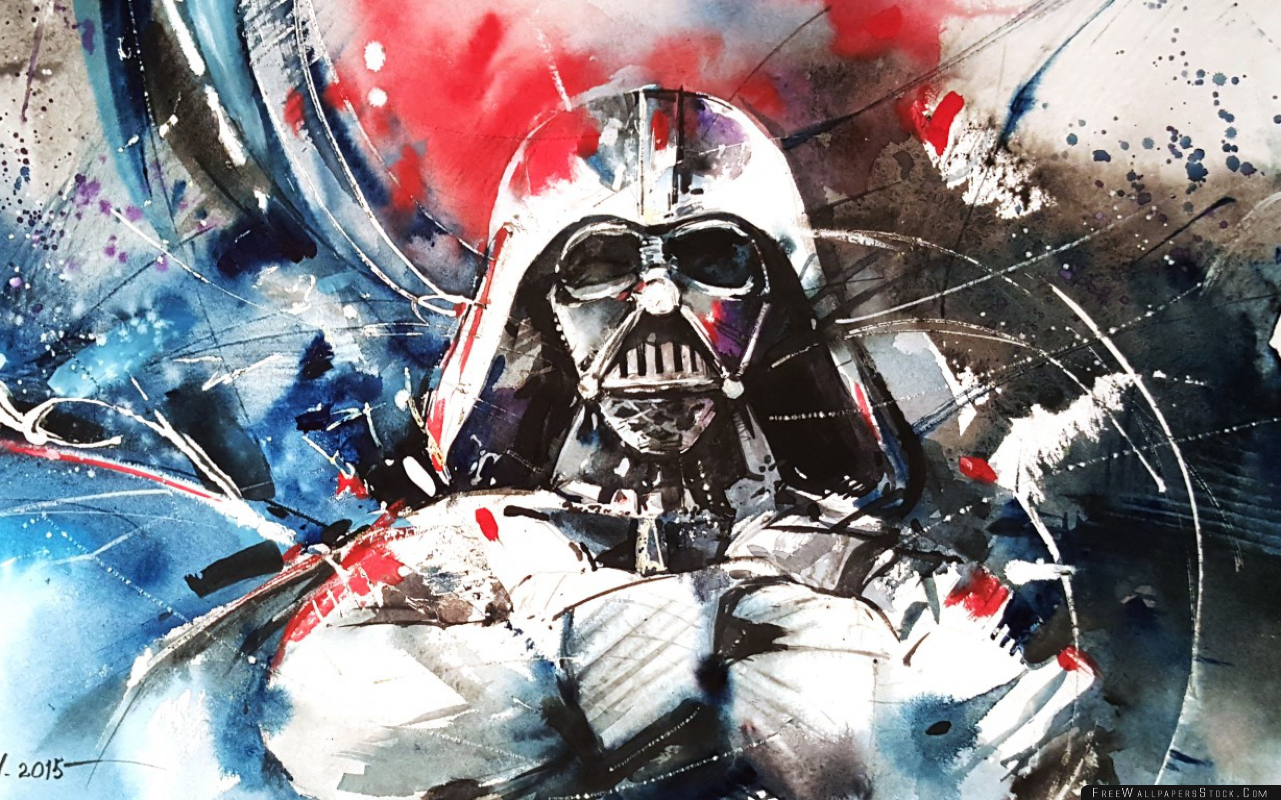 Download Free Wallpaper Darth Vader Star Wars Abstraction Art
