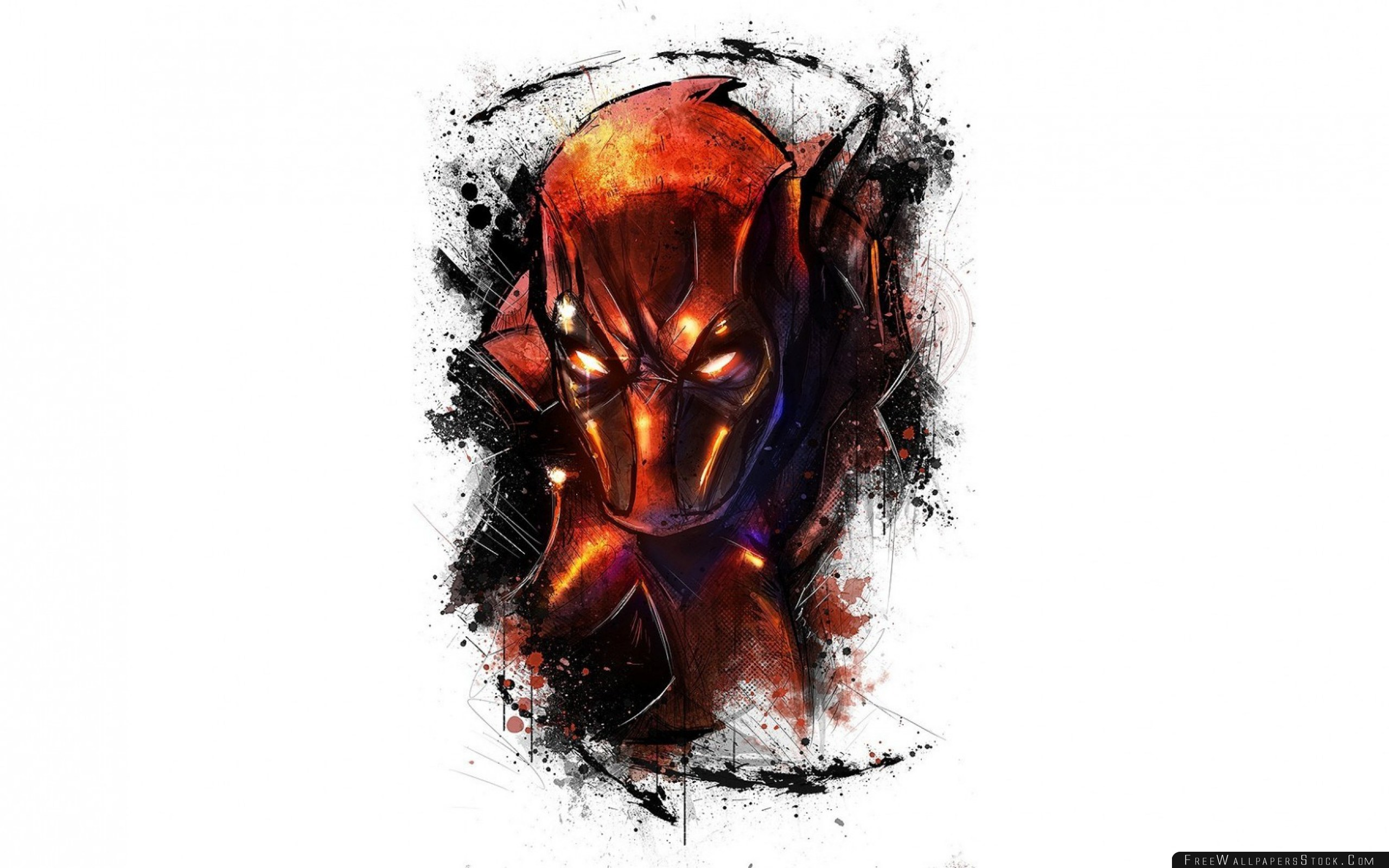 Download Free Wallpaper Deadpool Marvel Art Face